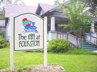 Sign for inn at folkston